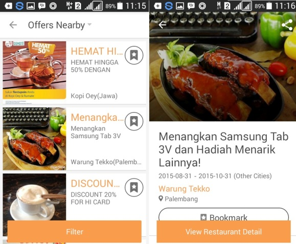 opensnap offers nearby promo promotion review opensnap application dining guide indonesia