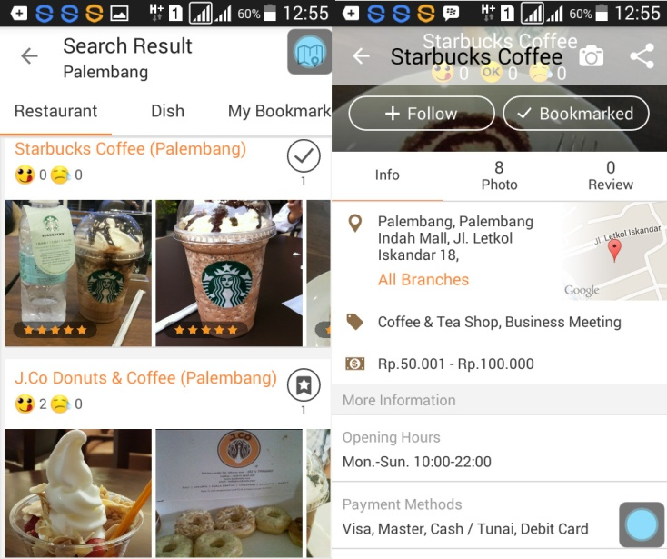 opensnap search food