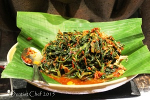 plecing kangkung spicy kangkoong water spinach chili morning glory signatures restaurant kempinski hotel indonesia jakart