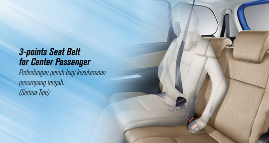 toyota avanza 3 point seat belt